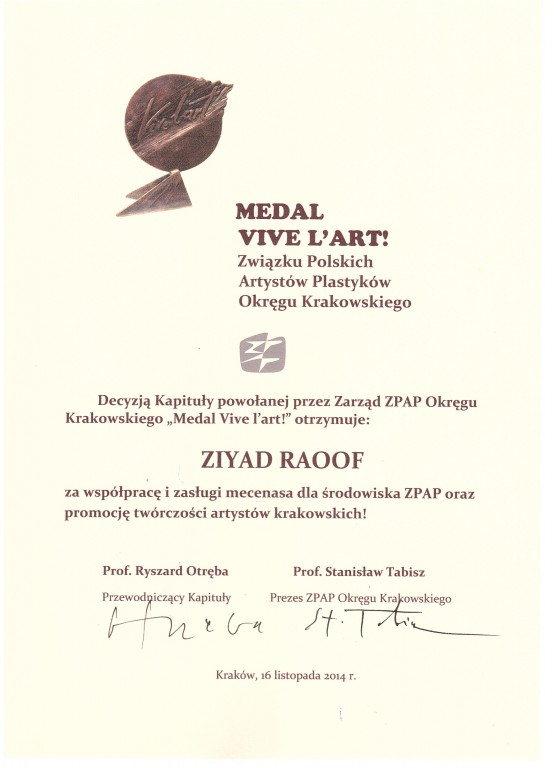 medal from ZPAP
